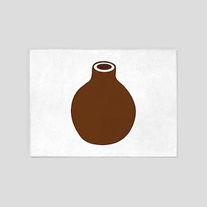 Brown Vase 5'x7'Area Rug