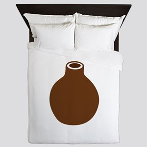 Brown Vase Queen Duvet