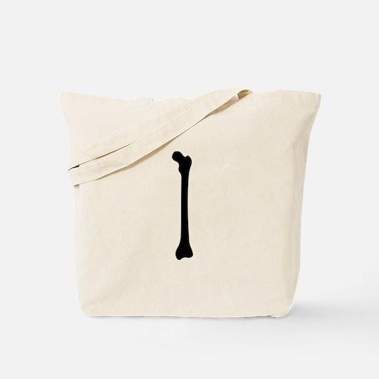 Bone Silhouette Tote Bag