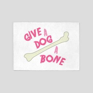 Dog a Bone 5'x7'Area Rug