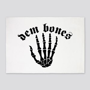 Dem Bones 5'x7'Area Rug