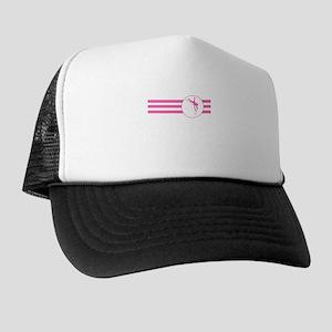 Pole Vaulter Stripes (Pink) Trucker Hat