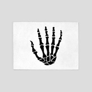 Hand Bones 5'x7'Area Rug