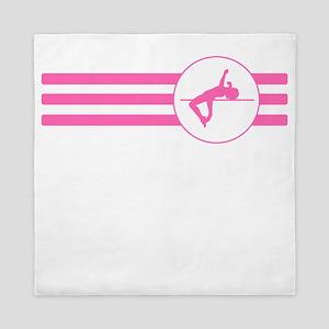 High Jump Stripes (Pink) Queen Duvet
