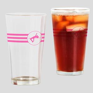 High Jump Stripes (Pink) Drinking Glass