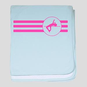 High Jump Stripes (Pink) baby blanket