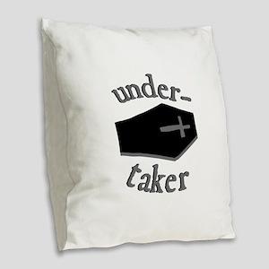 Under-Taker Burlap Throw Pillow