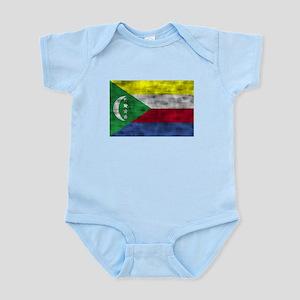 Distressed Comoros Flag Body Suit
