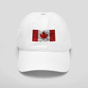 Distressed Canada Flag Baseball Cap