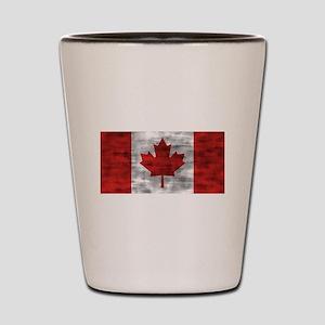 Distressed Canada Flag Shot Glass