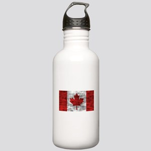 Distressed Canada Flag Water Bottle