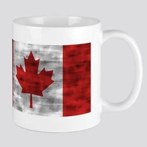 Distressed Canada Flag Mugs