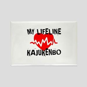 My Life Line Kajukenbo Rectangle Magnet