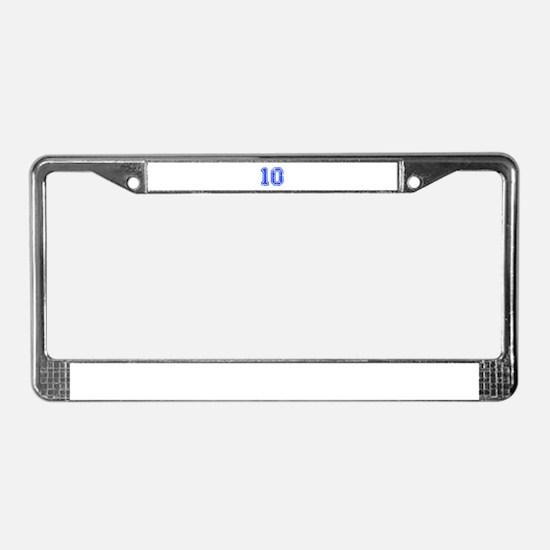 10-Col blue License Plate Frame