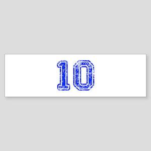 10-Col blue Bumper Sticker