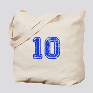 10-Col blue Tote Bag