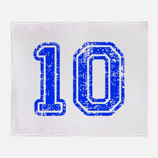 10-Col blue Throw Blanket