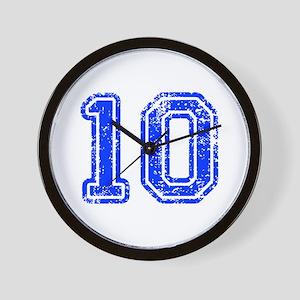 10-Col blue Wall Clock