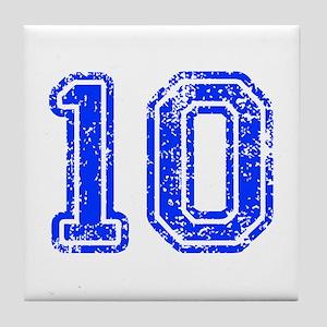 10-Col blue Tile Coaster