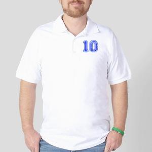 10-Col blue Golf Shirt