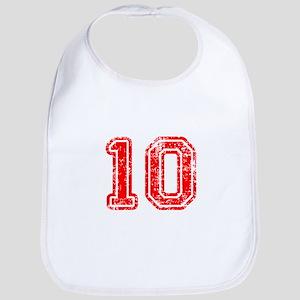 10-Col red Bib