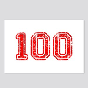 100-Col red Postcards (Package of 8)