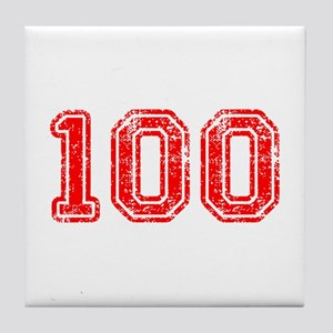 100-Col red Tile Coaster