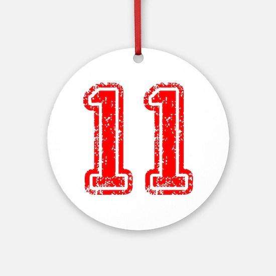 11-Col red Ornament (Round)