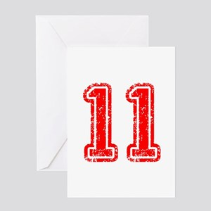 11-Col red Greeting Cards