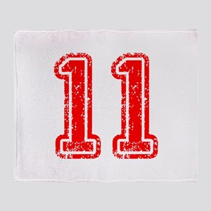 11-Col red Throw Blanket