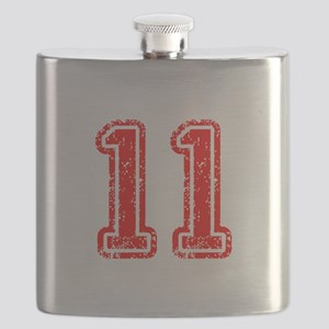 11-Col red Flask