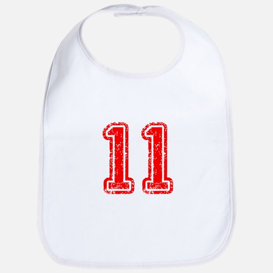 11-Col red Bib
