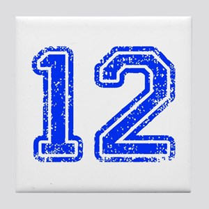 12-Col blue Tile Coaster