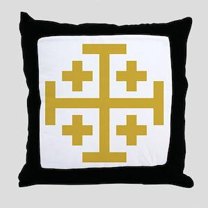 Crusaders Cross Throw Pillow