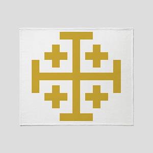 Crusaders Cross Throw Blanket
