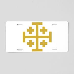 Crusaders Cross Aluminum License Plate