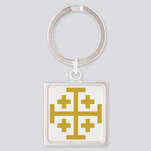 Crusaders Cross Square Keychain