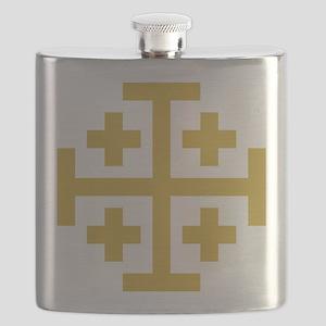 Crusaders Cross Flask