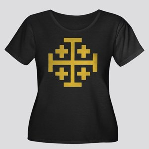 Crusader Women's Plus Size Scoop Neck Dark T-Shirt