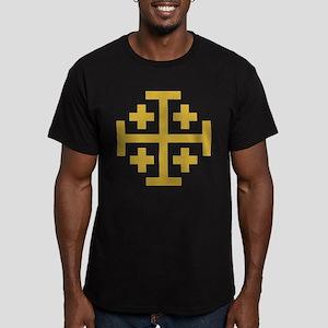 Crusaders Cross Men's Fitted T-Shirt (dark)