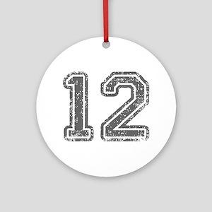 12-Col gray Ornament (Round)