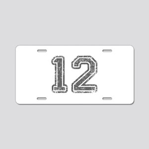 12-Col gray Aluminum License Plate
