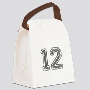 12-Col gray Canvas Lunch Bag