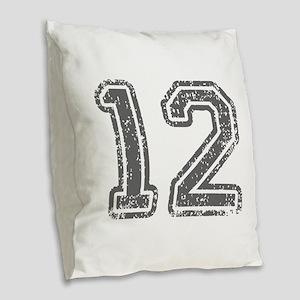 12-Col gray Burlap Throw Pillow