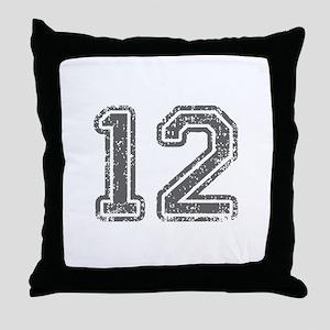 12-Col gray Throw Pillow