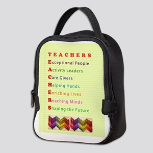 Teachers Shape the Future Neoprene Lunch Bag
