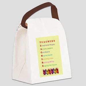 Teachers Shape the Future Canvas Lunch Bag