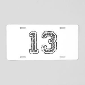 13-Col gray Aluminum License Plate