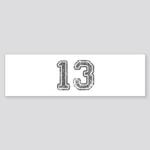 13-Col gray Bumper Sticker