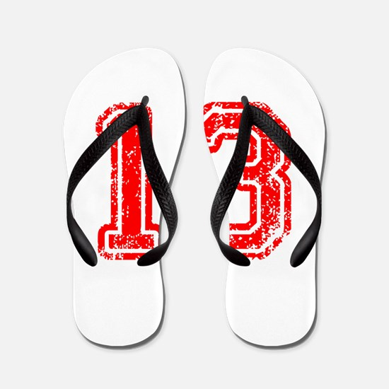 13-Col red Flip Flops